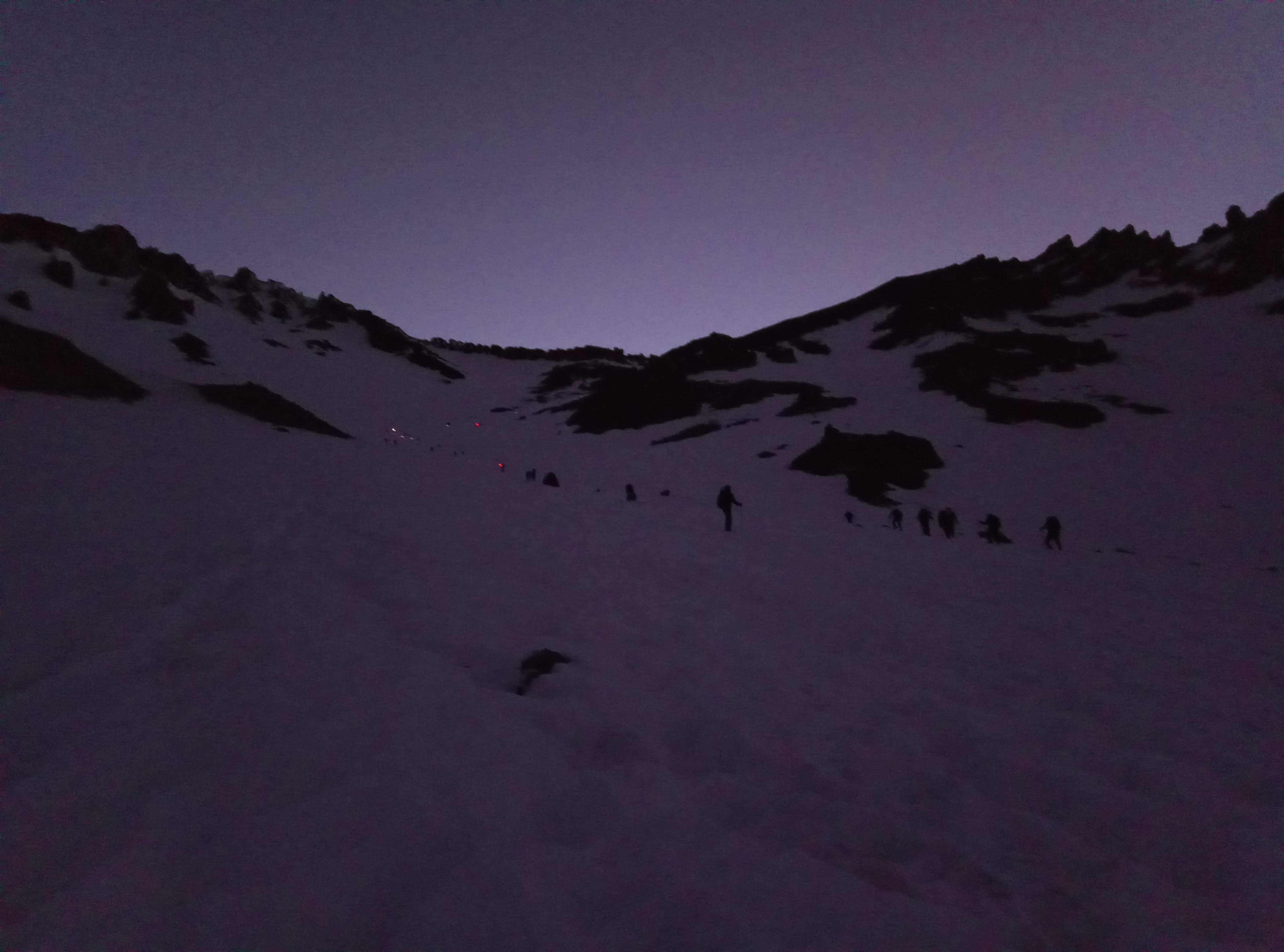 Avalanche gulch, early morning