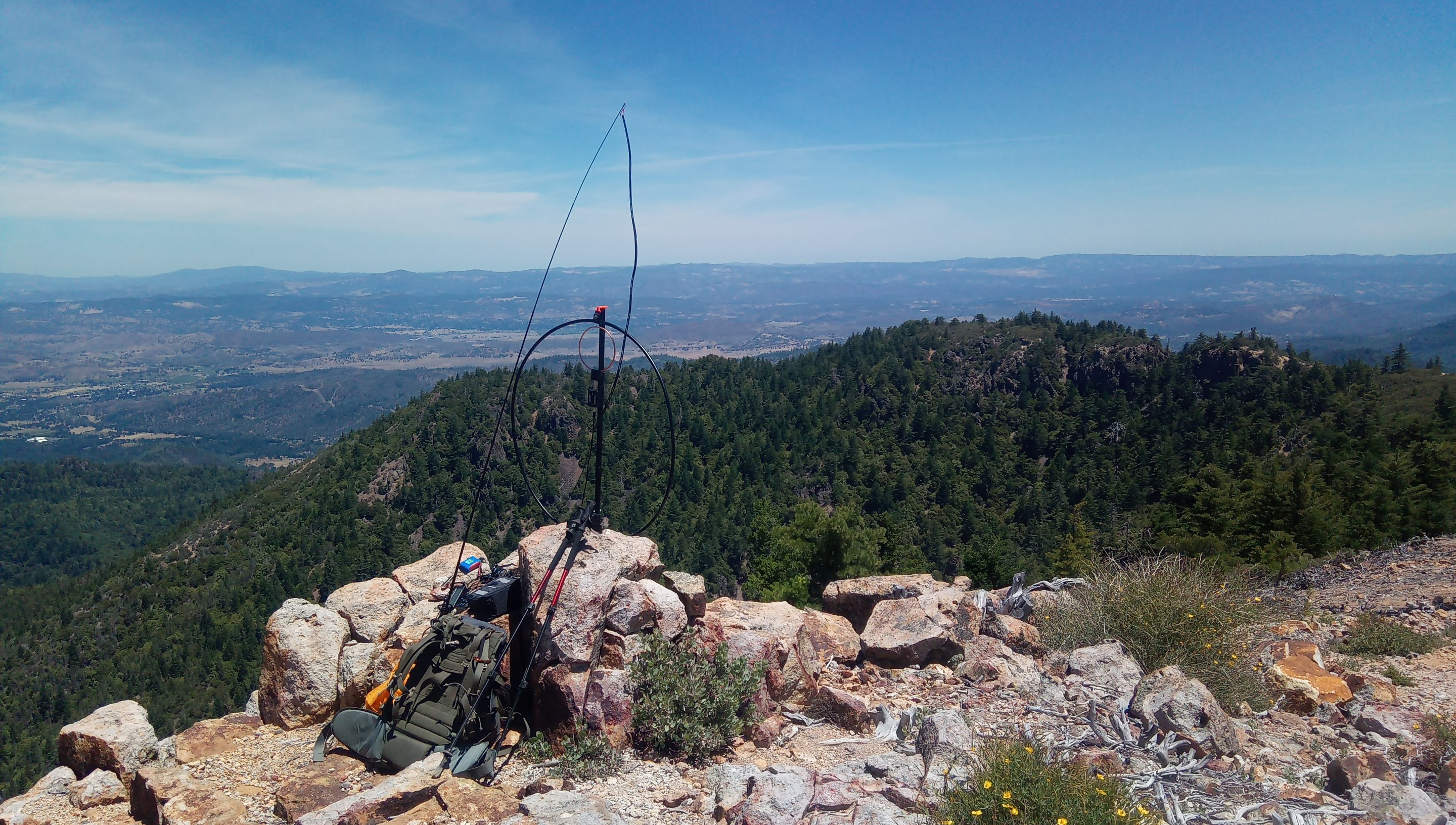 First SOTA activation: Mt. Saint Helena 2020-06-20