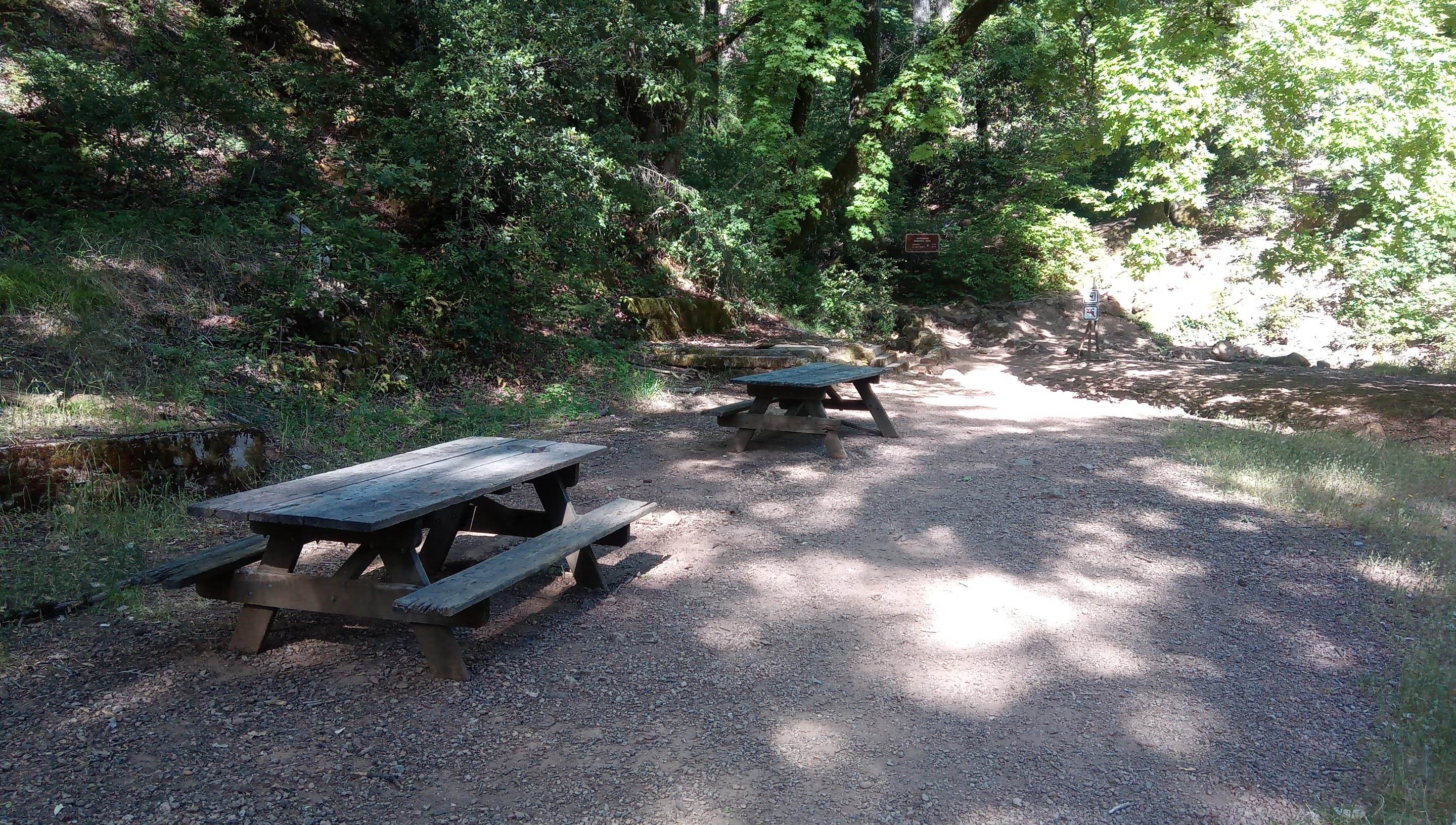 Tables at the trail head