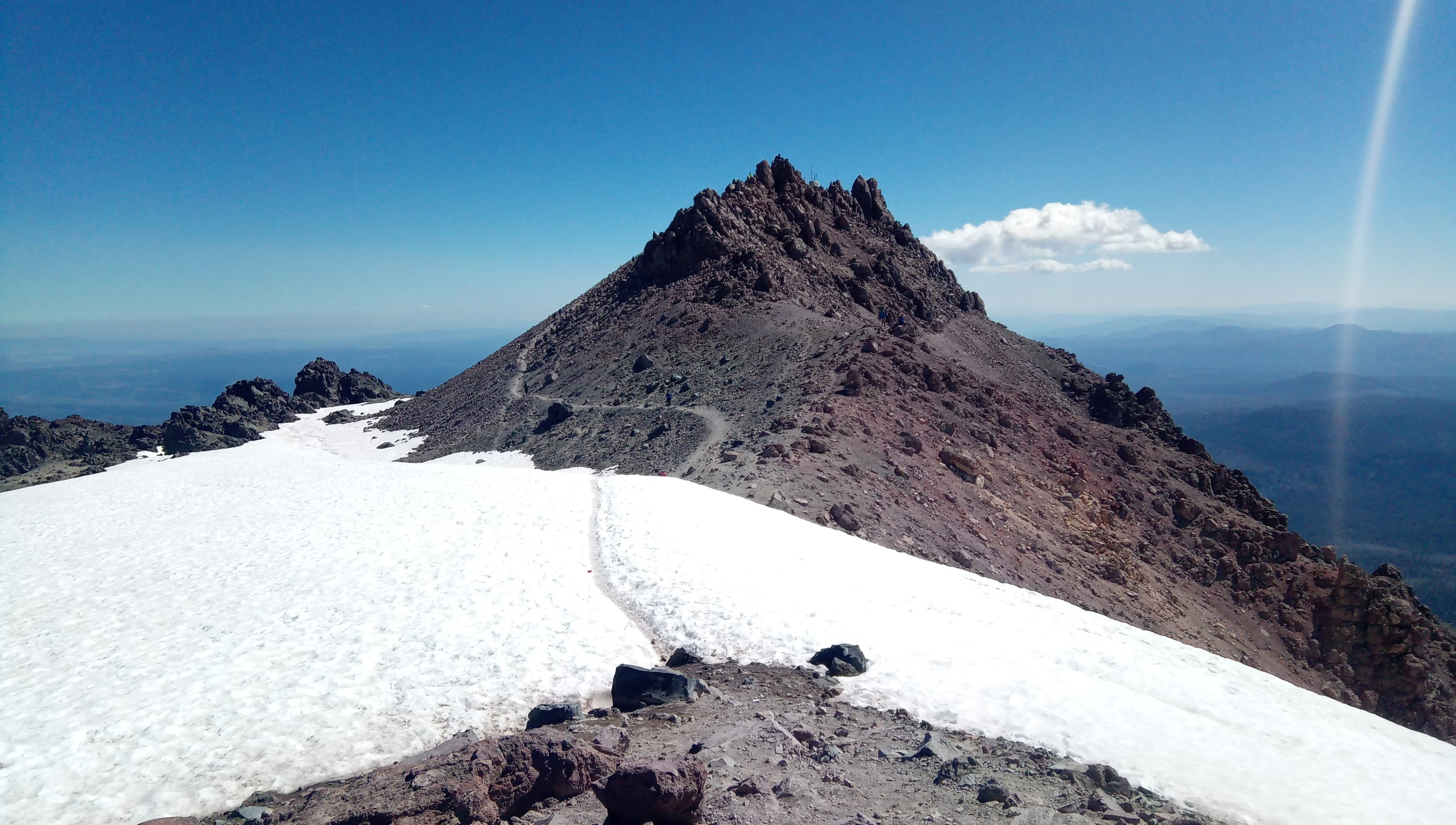 Three days in Lassen - Part 2, Lassen Peak on Independence day 2020