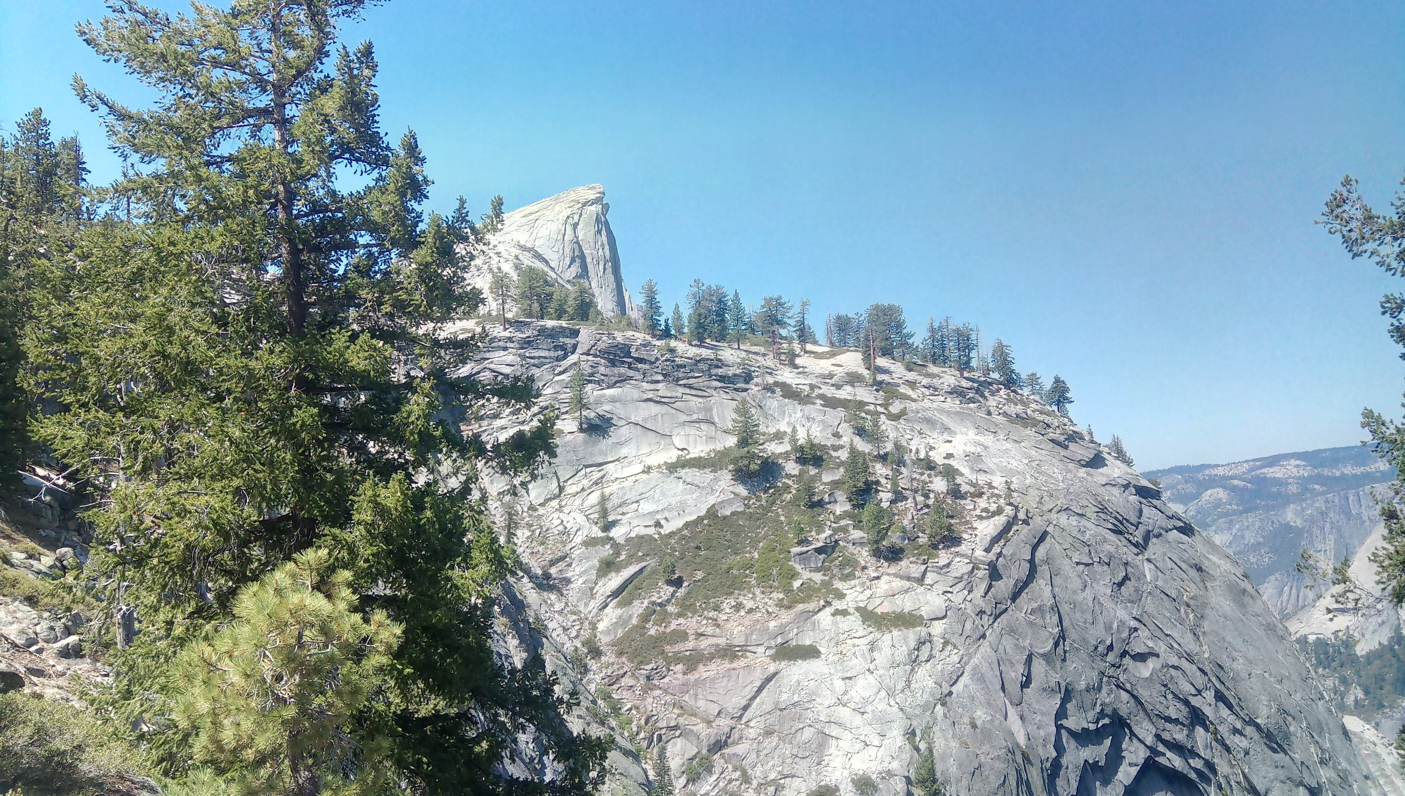 First glimpse of Half Dome