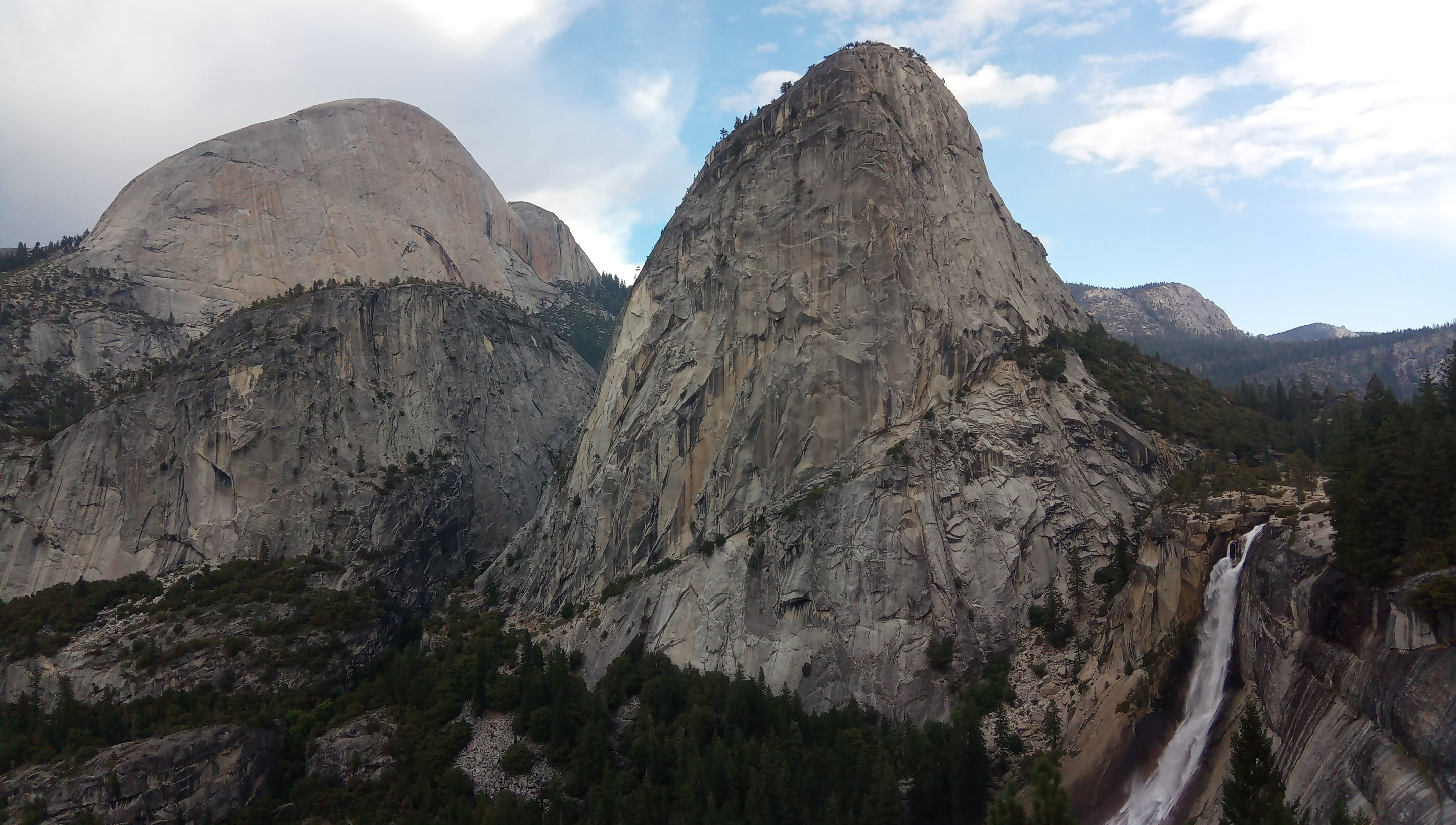 Half Dome, Mt. Broderick, Liberty Cap and Nevada fall