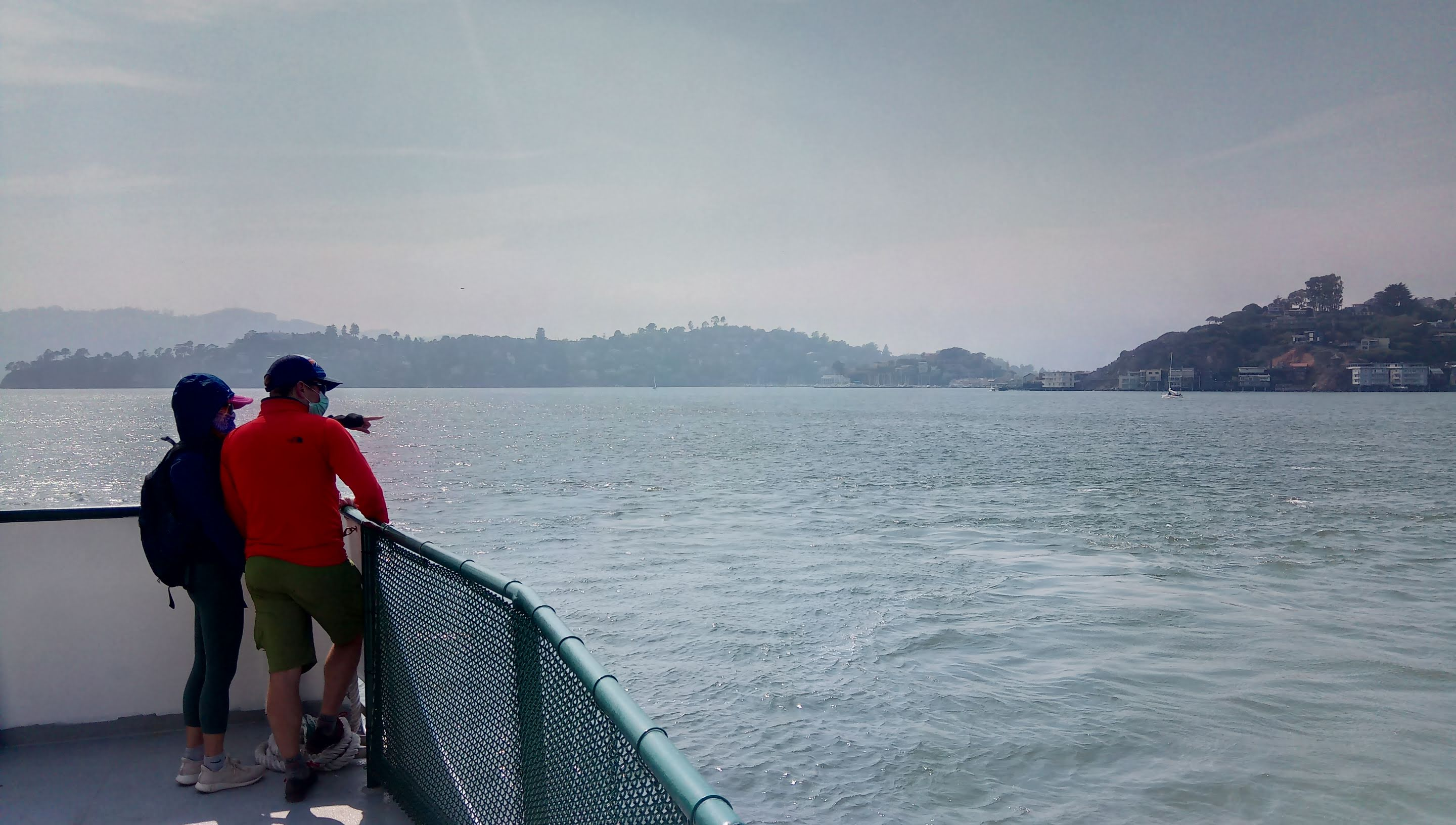 On the ferry back to Tiburon