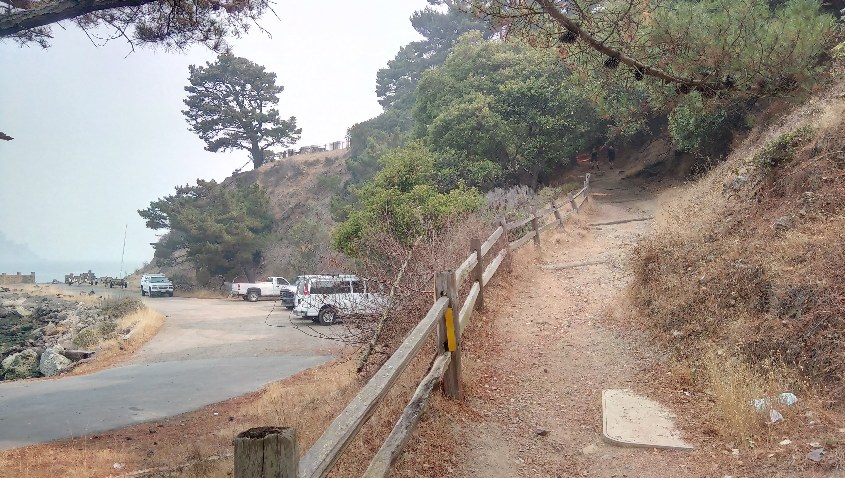 The trail starts to climb right from the visitor center
