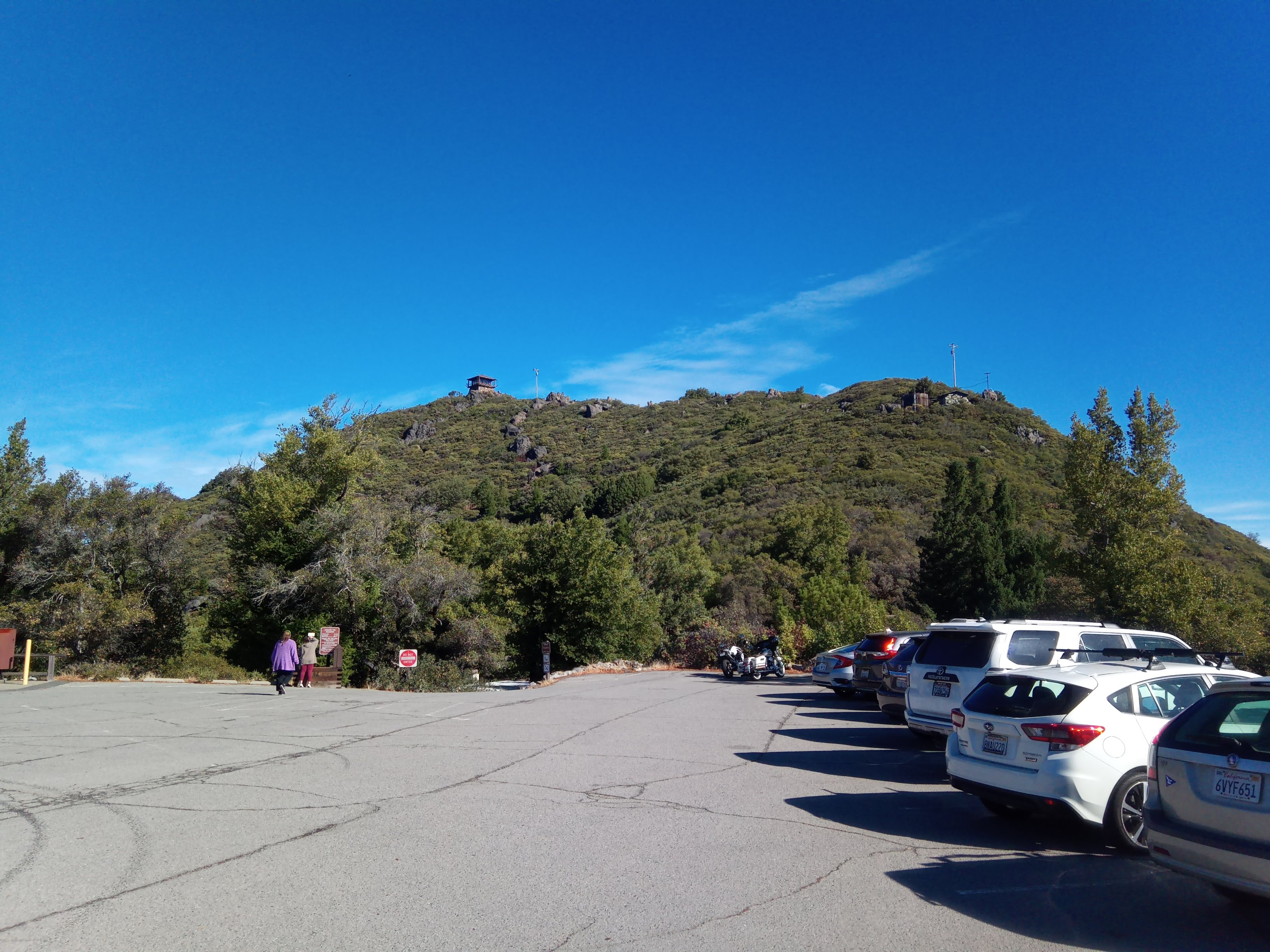 The summit as seen from parking